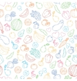 set of design elements seamless pattern vector image