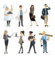 set professions collection cartoon vector image