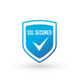 ssl protection secure blue shield isolated on vector image vector image