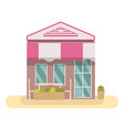 store front building flat design vector image vector image