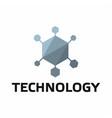 technology logo on white background vector image vector image