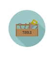 Tools box flat icon vector image vector image