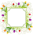 Tulips spring frame vector | Price: 1 Credit (USD $1)