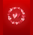 valentines day greeting card - template vector image