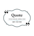 Vintage Quote blank with text bubble box balloon vector image