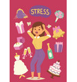 wedding stress concept bride pulling her hair and vector image vector image