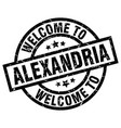 welcome to alexandria black stamp vector image vector image