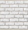 white brick wall texture vector image vector image