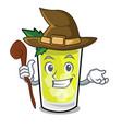 witch mint julep mascot cartoon vector image