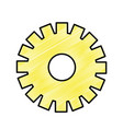 yellow gear symbol process industry vector image vector image