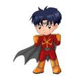 chibi style of a superhero vector image