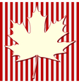 White Maple Leaf vector image