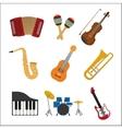 Music instrument icon set graphic vector image