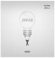 light bulb parachute with businessman vector image