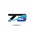 73th Year anniversary design logo vector image vector image