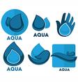 aqua symbols vector image vector image