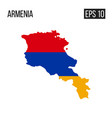 armenia map border with flag eps10 vector image vector image