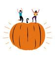 autumn october pumpkin party celebration template vector image