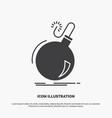 bomb boom danger ddos explosion icon glyph gray vector image