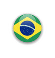 button brazil flag template design vector image