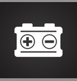 car battery on black background for graphic and vector image vector image