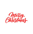 christmas hand lettering vector image vector image