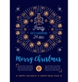 Christmas poster Holiday Xmas party flyer vector image vector image