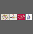 cute hand drawn doodle christmas cards brochures vector image vector image
