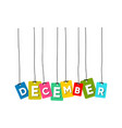 december word vector image vector image