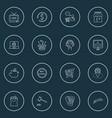 e-commerce icons line style set with payments vector image