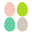 easter eggs hatching chick patterns vector image vector image