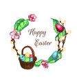 easter sketch bg vector image vector image