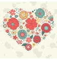 Elegant card with floral heart vector image vector image