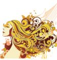 fashion hairstyle vector image vector image