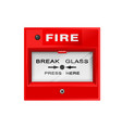 fire alarm box on wall warning and security vector image vector image