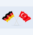 flag germany and turkey together a symbol of vector image