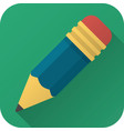 flat icon toy pencil vector image