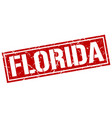 florida red square stamp vector image vector image
