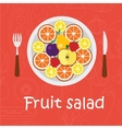 Fruits background in flat style Colorful template