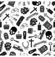 funeral icons grayscale seamless pattern eps10 vector image vector image