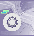 gear cog icon on purple abstract modern vector image
