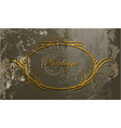 grunge calligraphic frame vector image vector image