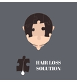 Hair loss solution vector image vector image