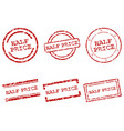 half price stamps vector image