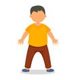 happy boy kid icon flat style vector image