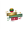 happy lithuania independence day template design vector image