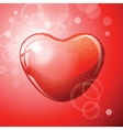 Heart red shape on red background vector image vector image