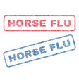 horse flu textile stamps vector image vector image