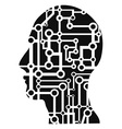 human head circuit vector image