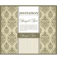 Invitation gretting card vector image